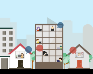Animated Managed IT Services Office